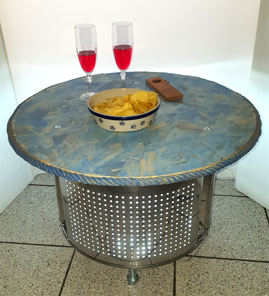 tavolino da salotto con luce interna