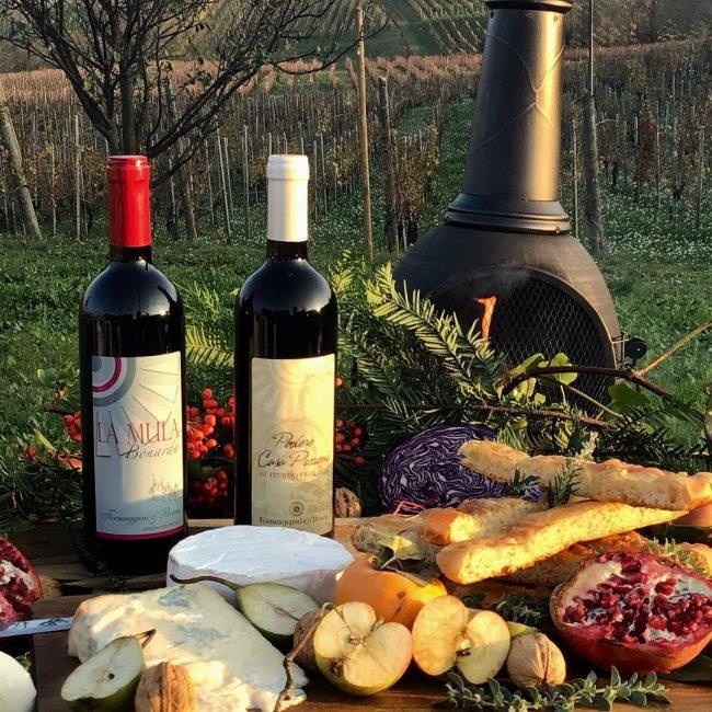 I vini dell'azienda vitivinicola Formaggini e Peveri abbinati a prodotti locali
