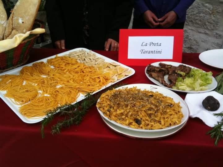 Alcuni dei piatti dell'agriturismo La Preta Tarantini