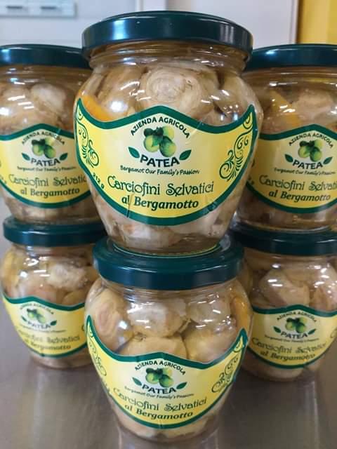 Azienda Agricola Patea Carciofini aromatizzati al Bergamotto